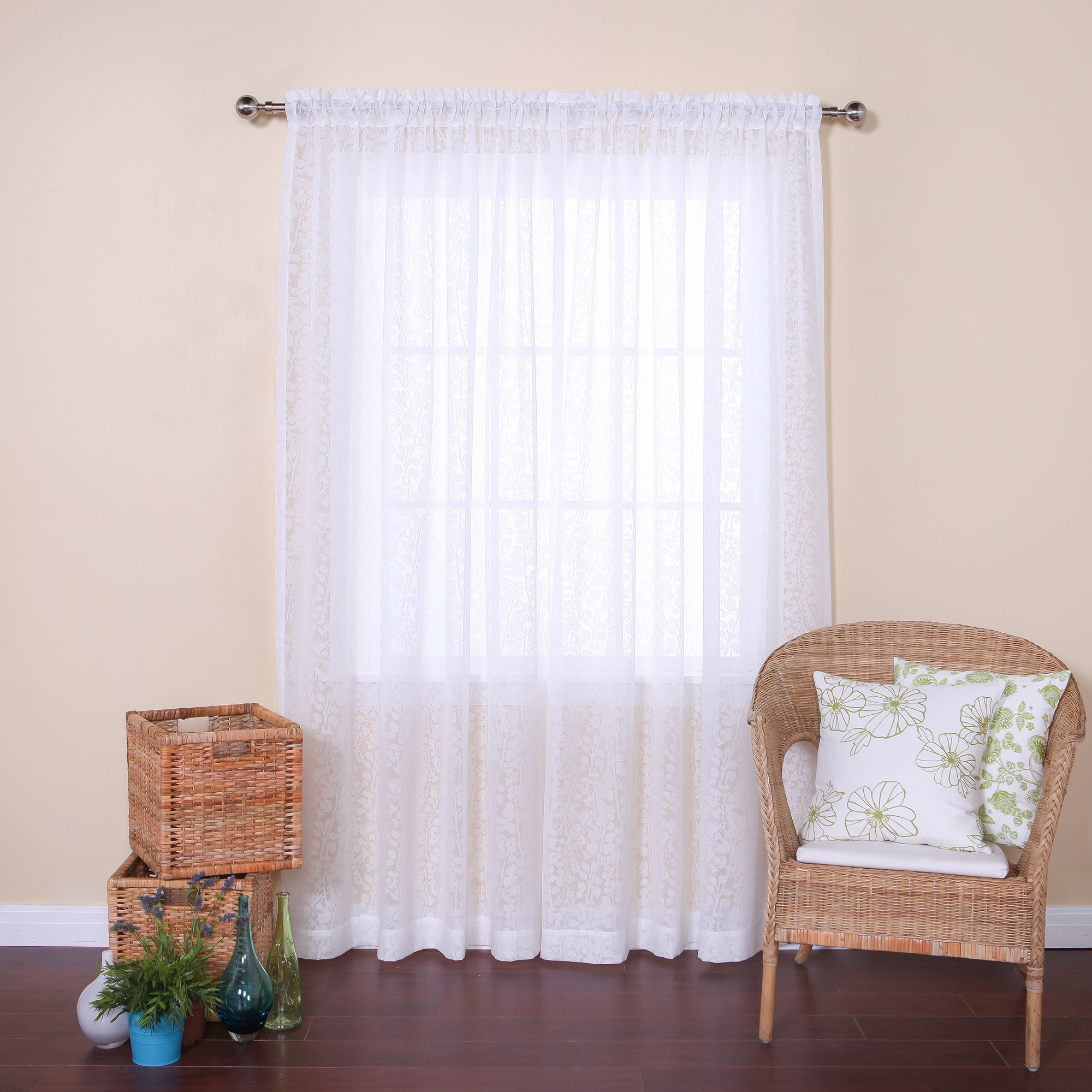 rod silk garden on product lined over faux curtains overstock pair heritage inch free home orders landing curtain shipping