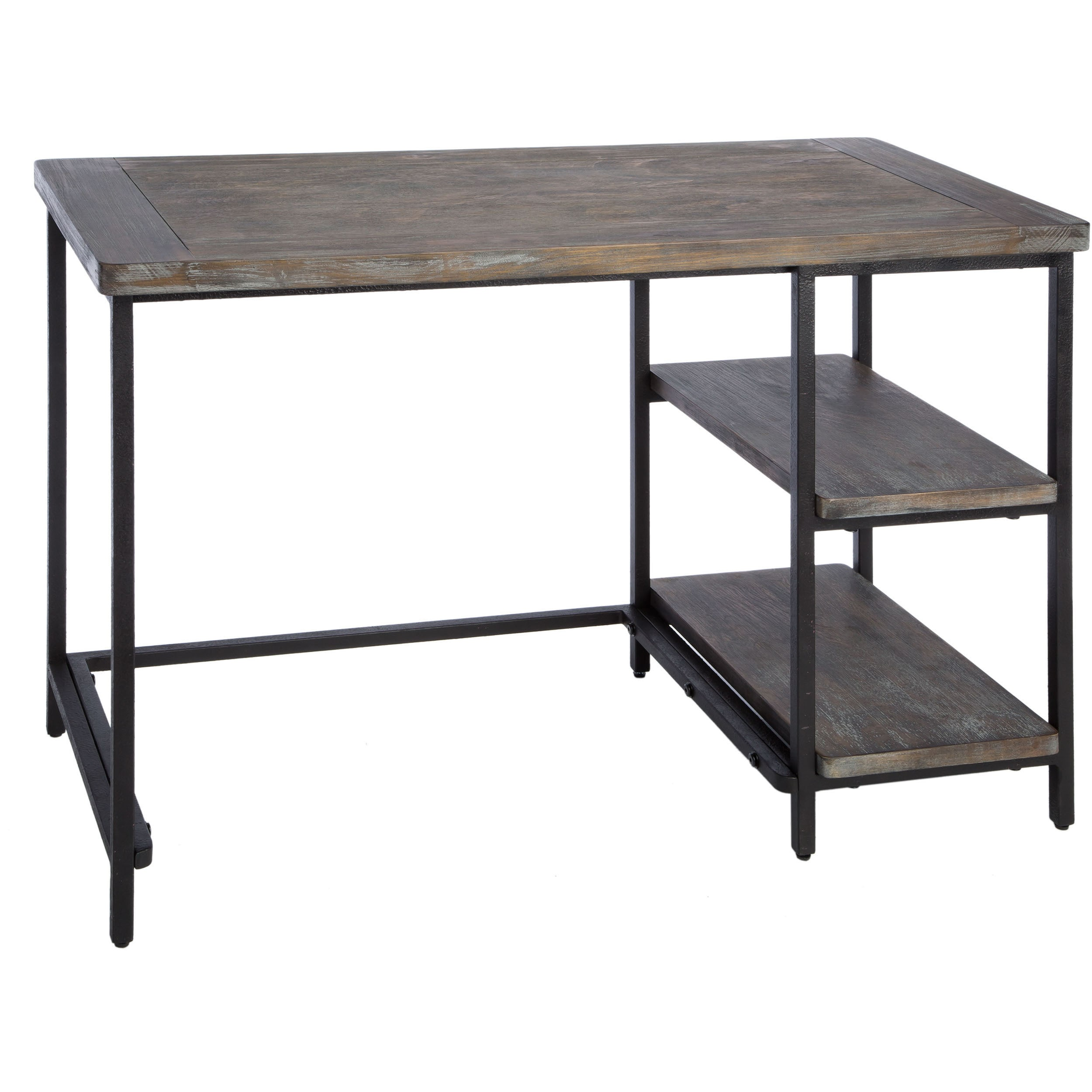 Renate Distressed Grey Slim Writing Desk Free Shipping Today 15539220