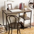 Renate Distressed Grey Slim Writing Desk