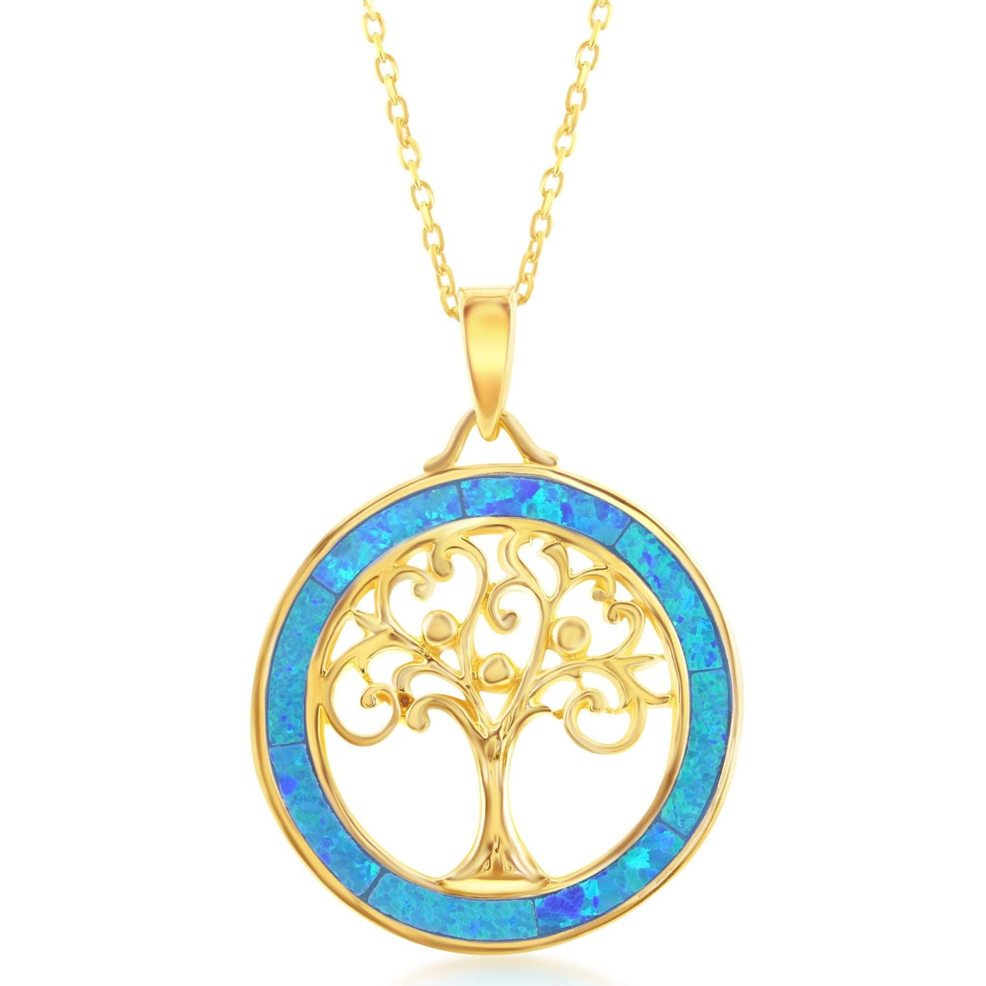 La preciosa sterling silver gold plated tree of life pendant la preciosa sterling silver gold plated tree of life pendant necklace free shipping on orders over 45 overstock 15539389 aloadofball Choice Image