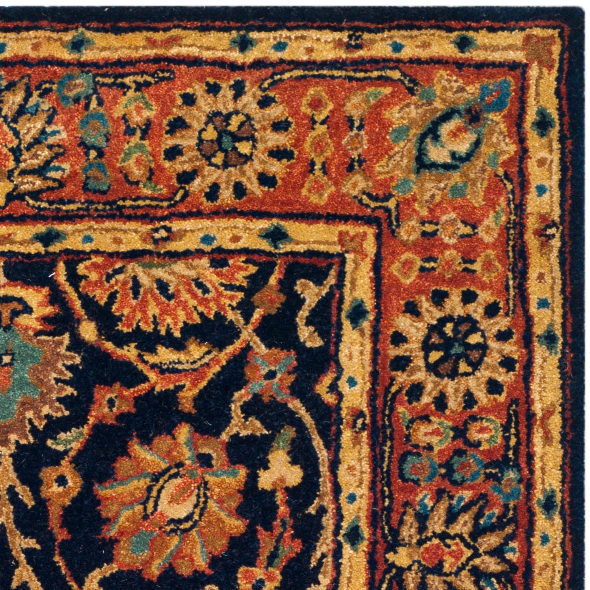 Safavieh Hand made Persian Legend Navy Rust Wool