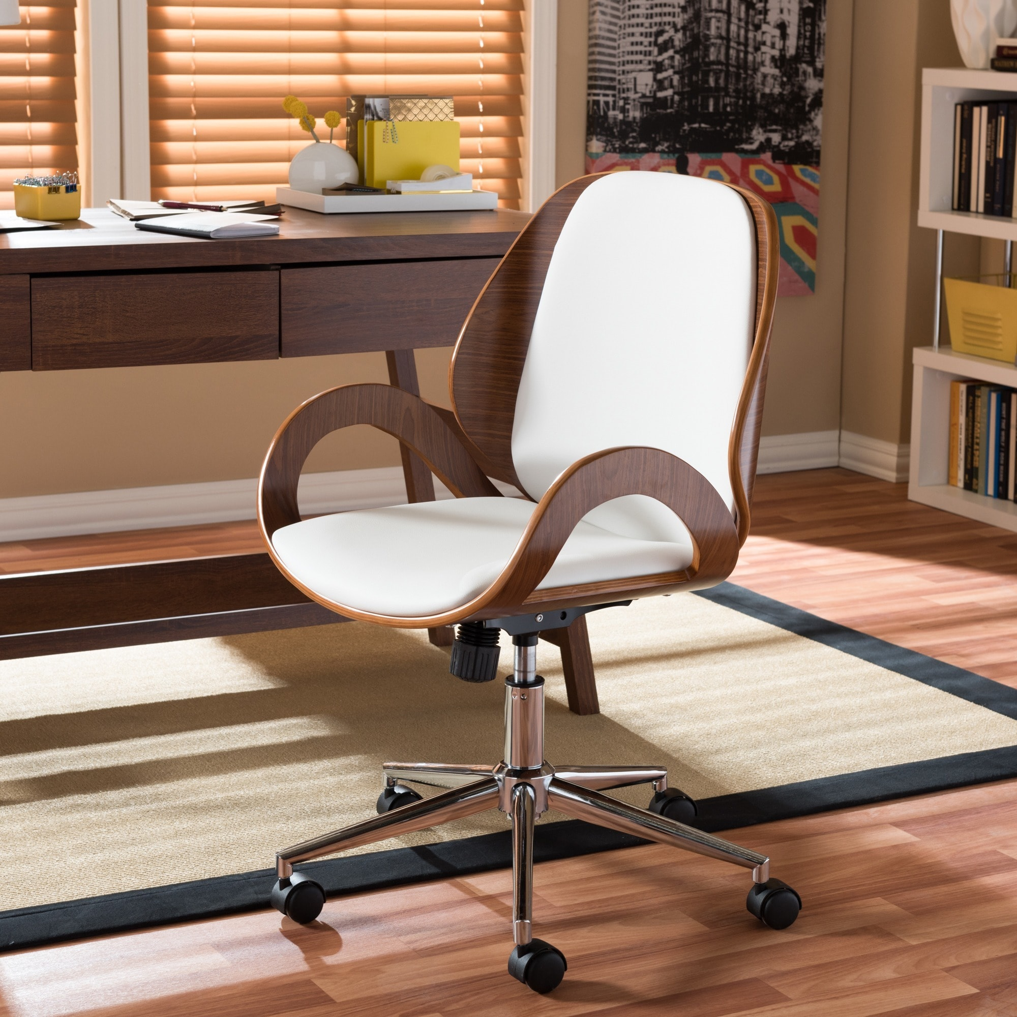 Watson Walnut Modern Office Chair Free Shipping Today 8207077