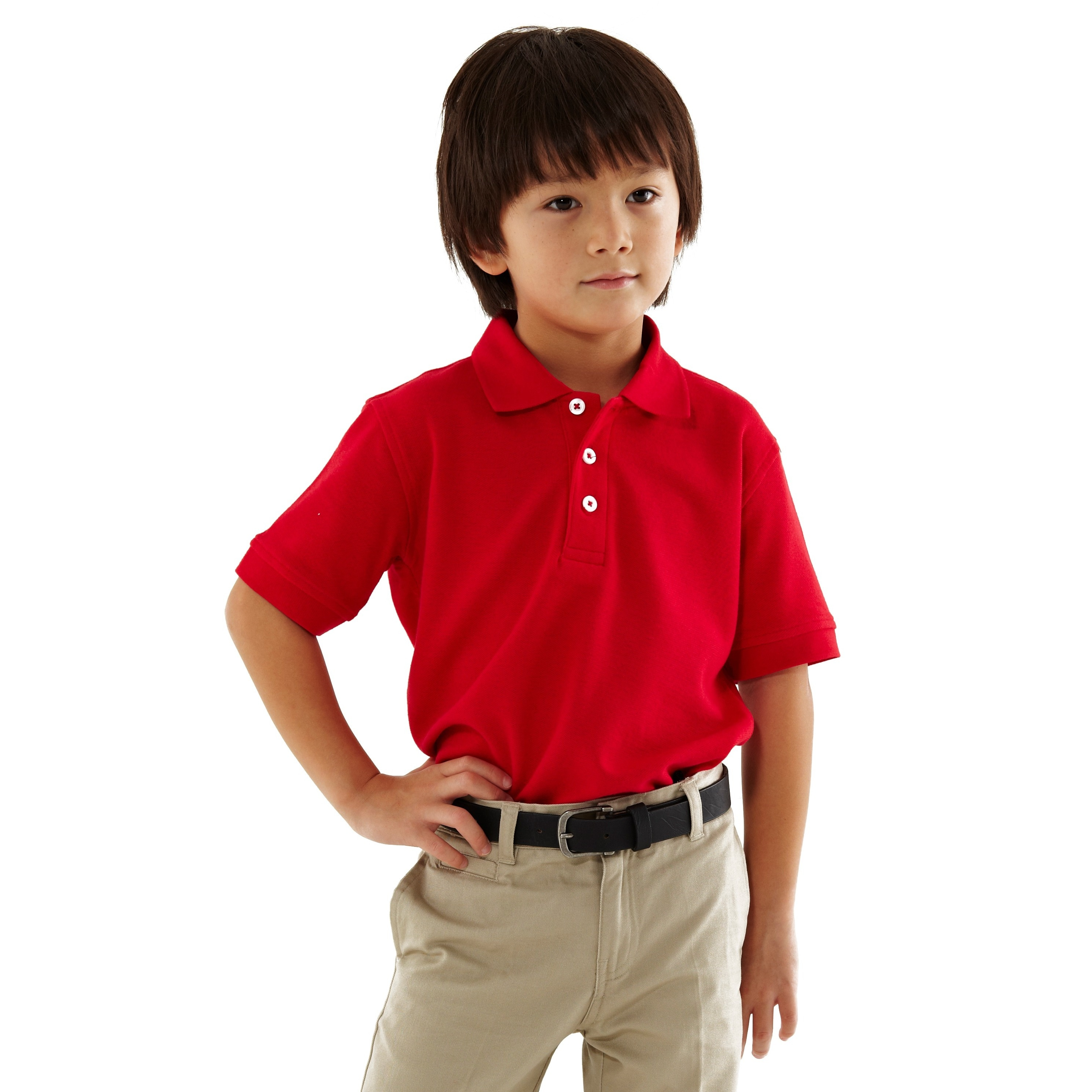 Shop French Toast Toddler Boys Red Short Sleeve Pique Polo Shirt