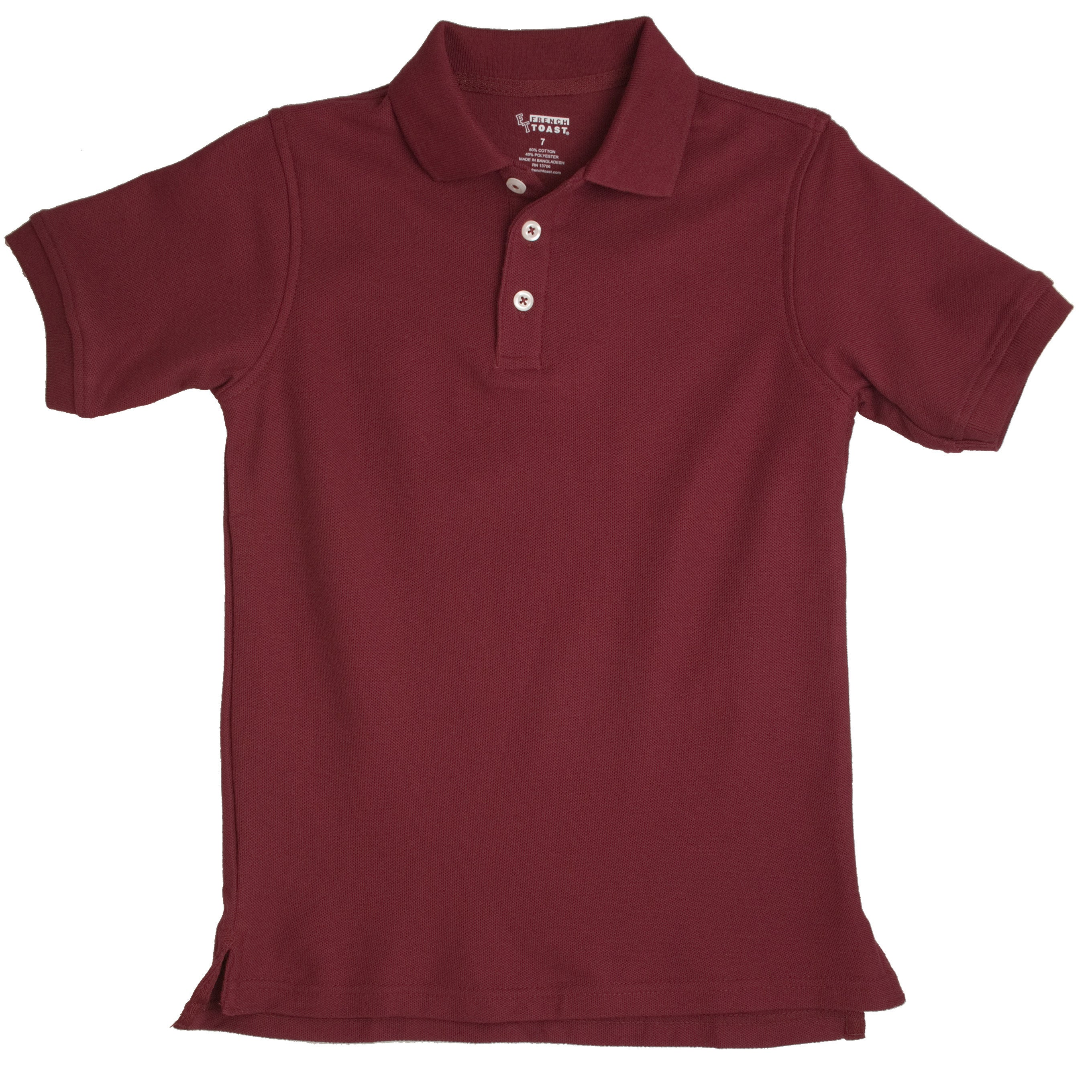 faaa9ff45 Shop French Toast Toddler Boys Burgundy Short Sleeve Pique Polo Shirt -  Free Shipping On Orders Over  45 - Overstock - 8224000