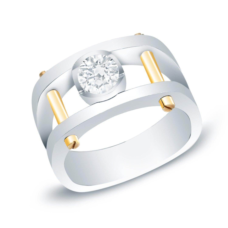 Shop Men s 14k Gold 1ct TDW Diamond Bling Ring by Auriya - On Sale ... 3d2154c29957