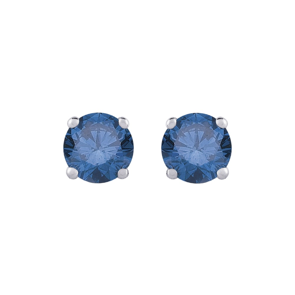 14k White Gold 1 4ct Tdw Round Blue Diamond Stud Earrings On Free Shipping Today 8224562