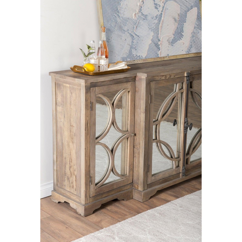 Sideboard Beige amri reclaimed wood mirrored 79 inch sideboard by kosas home free