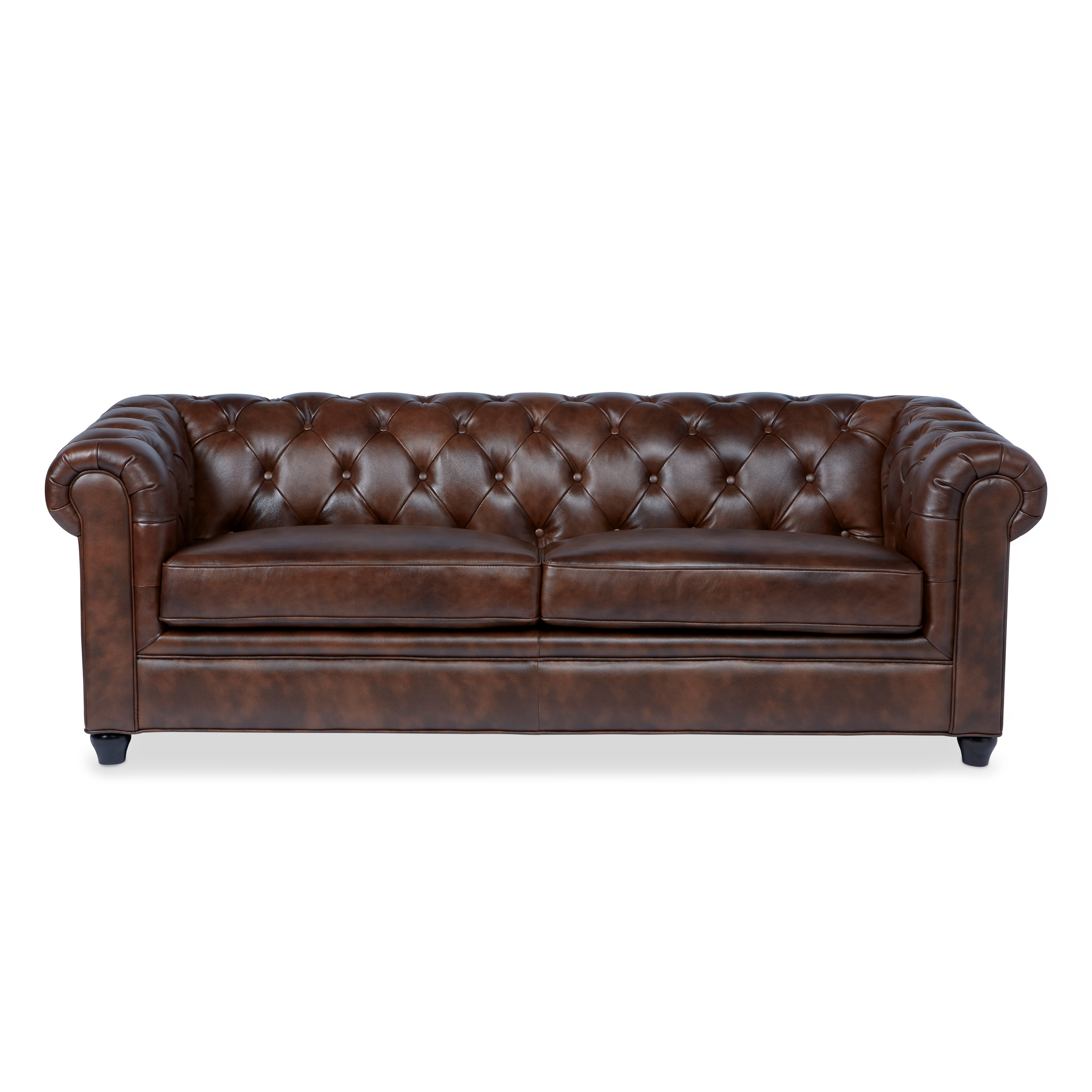 High Quality Abbyson Tuscan Top Grain Leather Chesterfield Sofa   Free Shipping Today    Overstock.com   15559674
