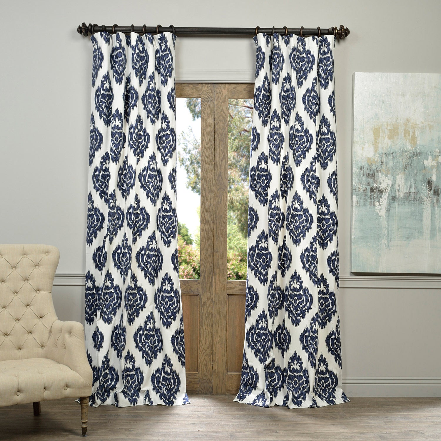 for blinds made iliv curtain product varenne floral to and from linen curtains essence embroidered measure collection fabric