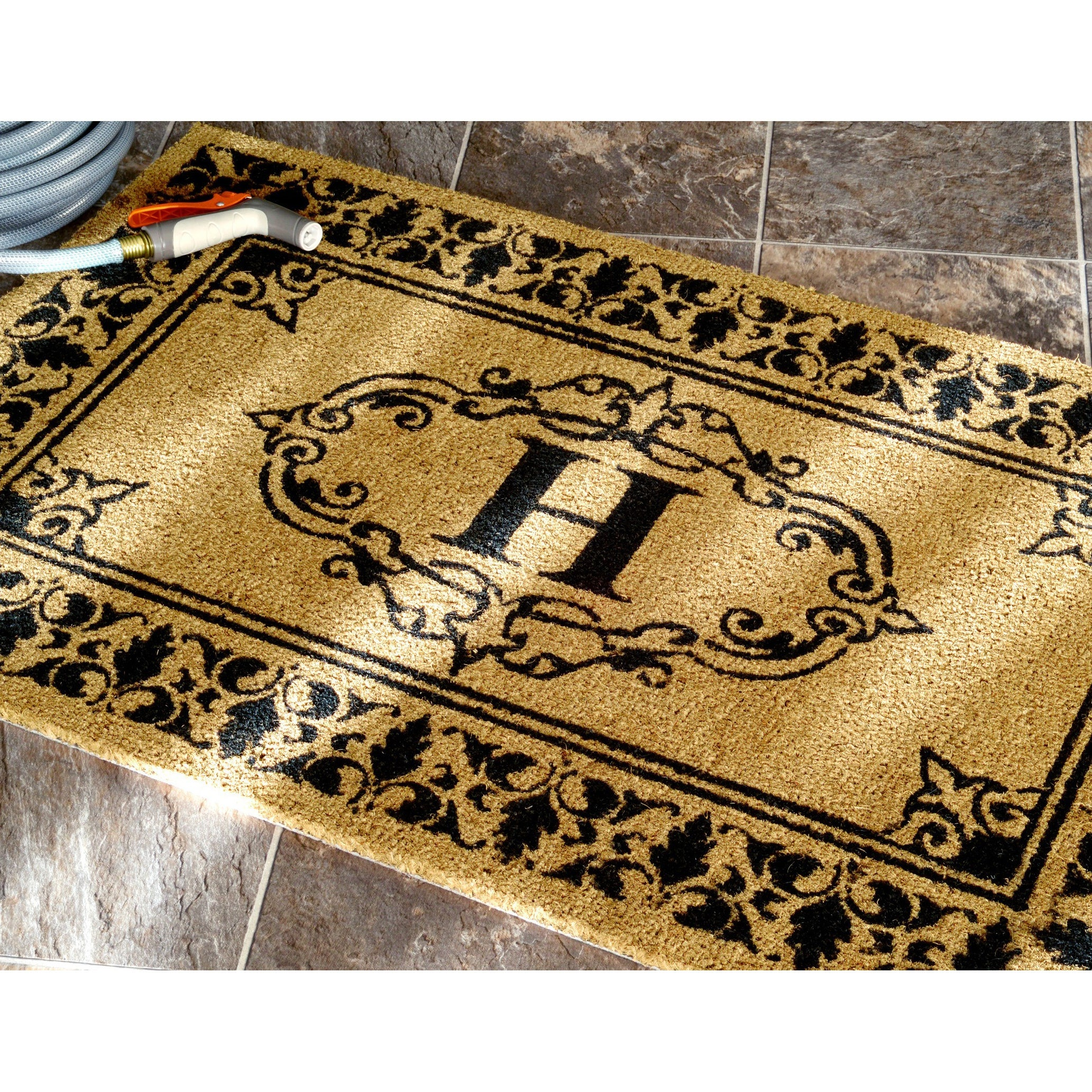 coir doormat personalized coco customized doormats welcome door monogrammed mat w
