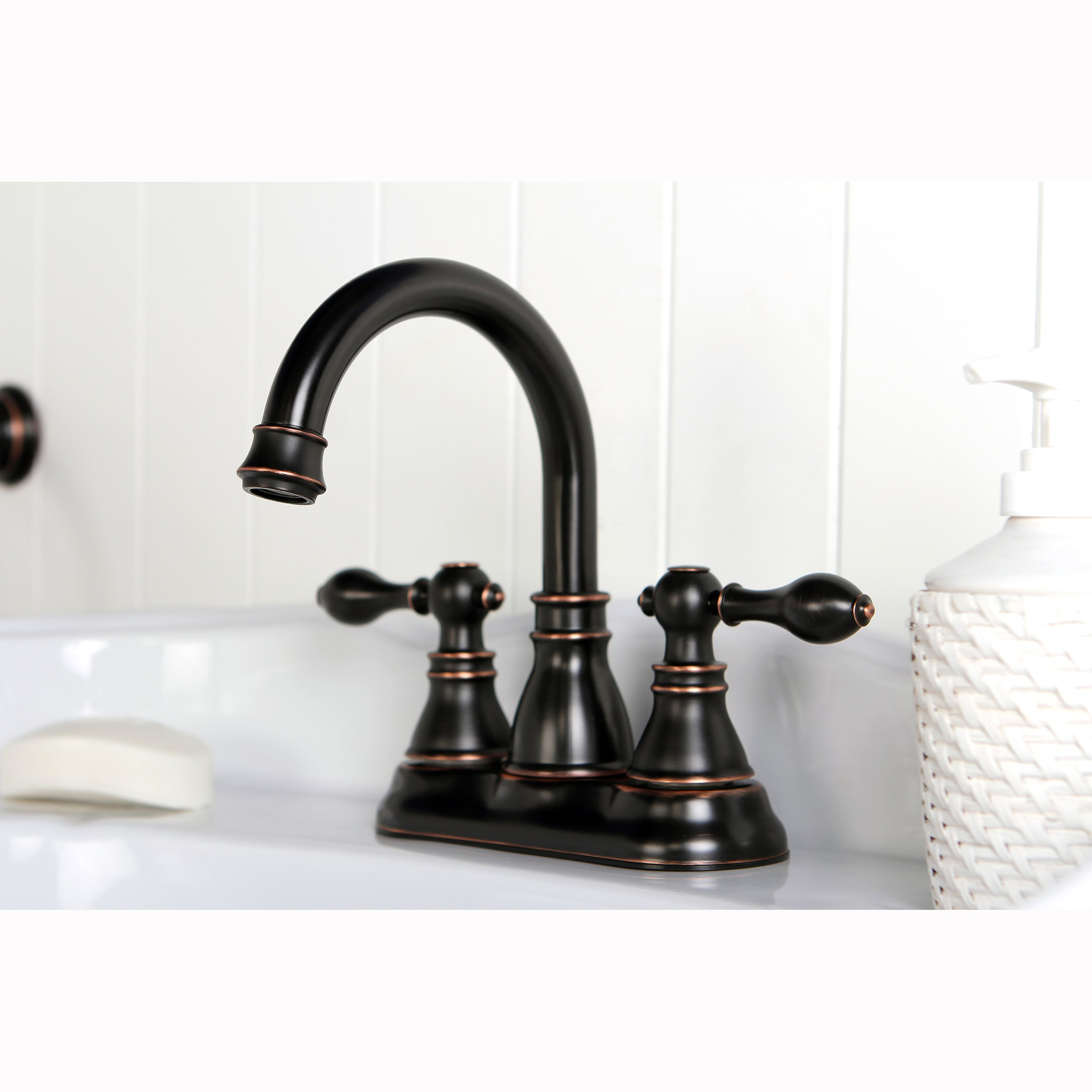 Venetian Bronze Bathroom Accessories Shop Classic High Spout Oil-rubbed Bronze Bathroom Faucet and Bathroom  Accessory Set - Free Shipping Today - Overstock - 8233123