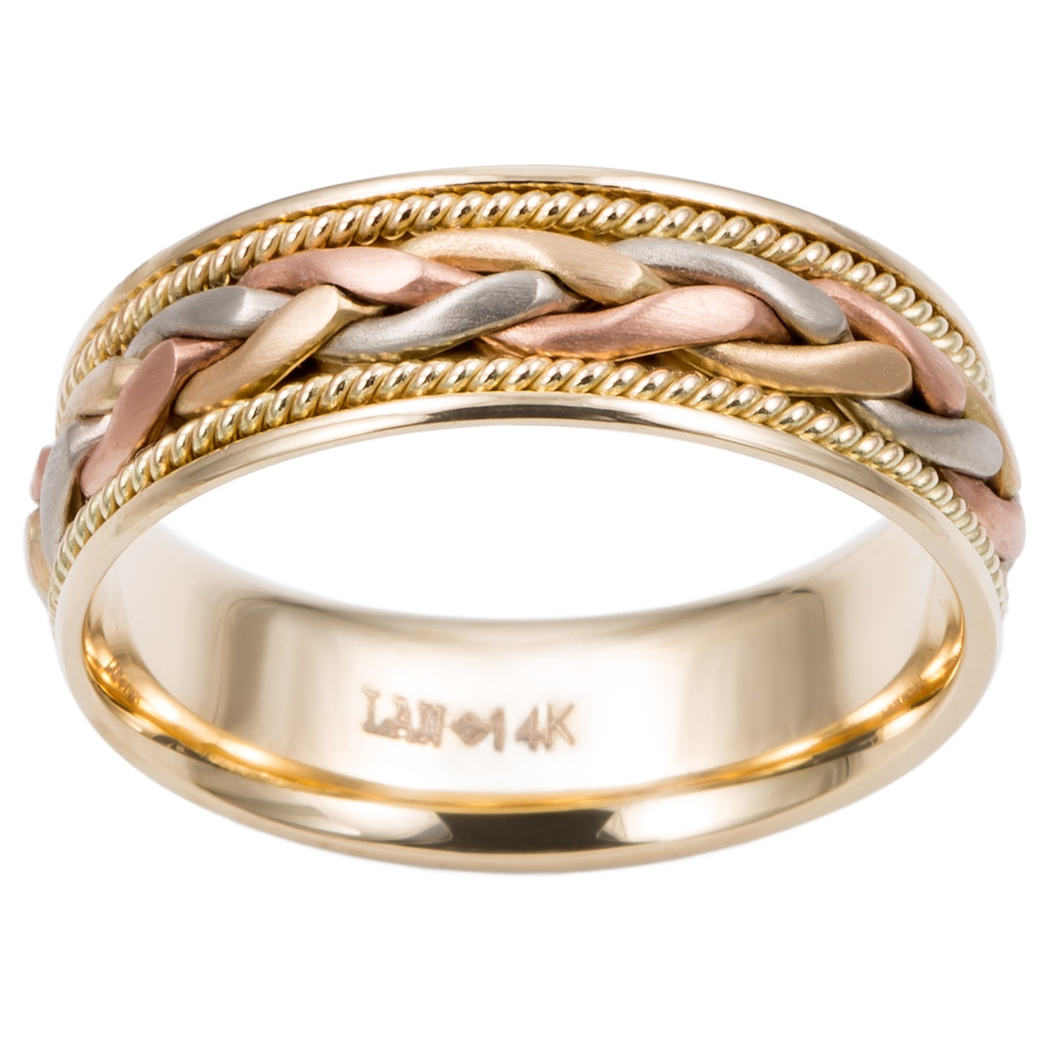 ring kors in tritone gallery rings jewelry tri metallic product lyst barrel tone michael normal