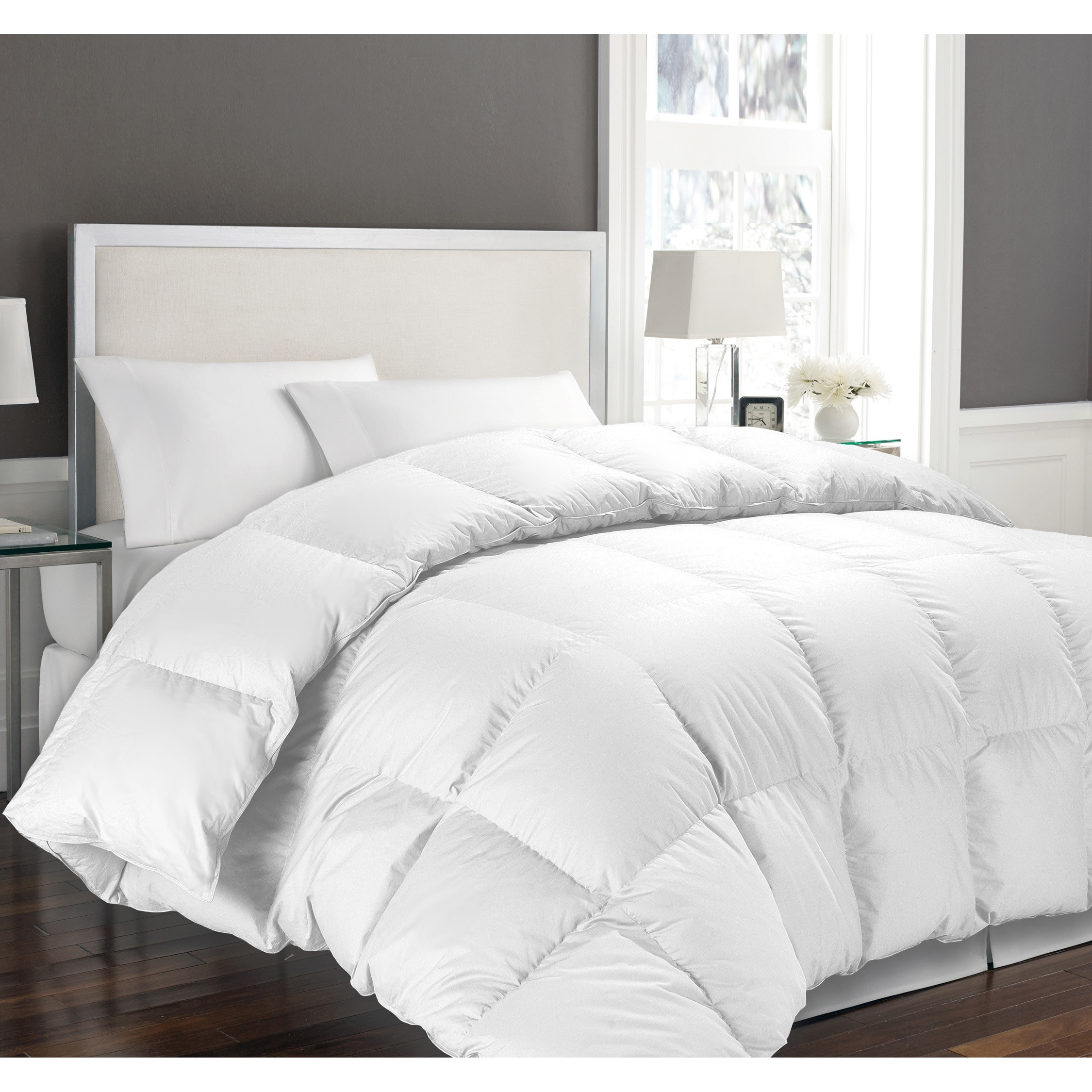 Shop hotel grand oversized luxury 1000 thread count egyptian cotton down alternative comforter on sale free shipping today overstock com 8237003