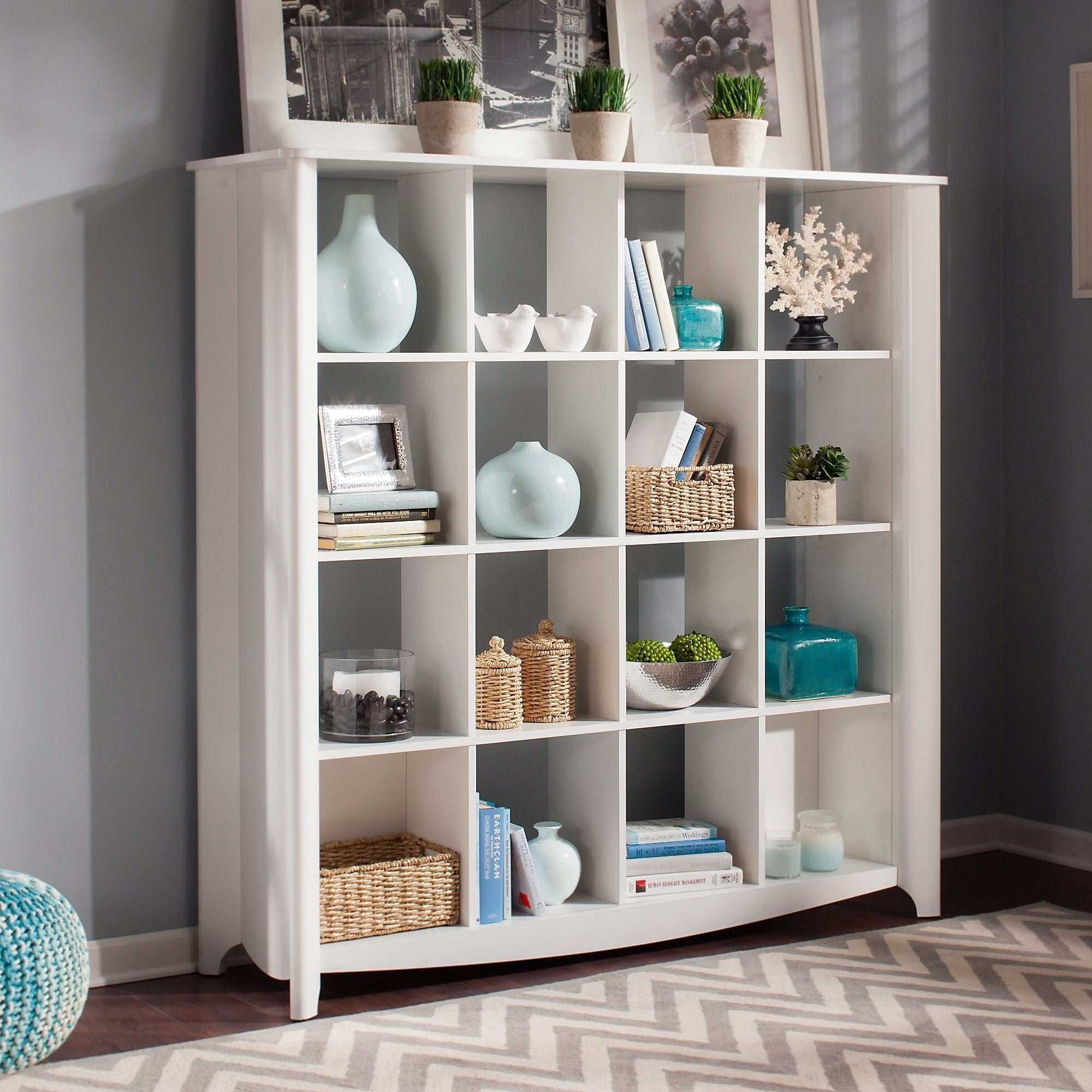 Bush Furniture Aero 16 Cube Bookcase/Room Divider - Free Shipping Today -  Overstock.com - 15565471