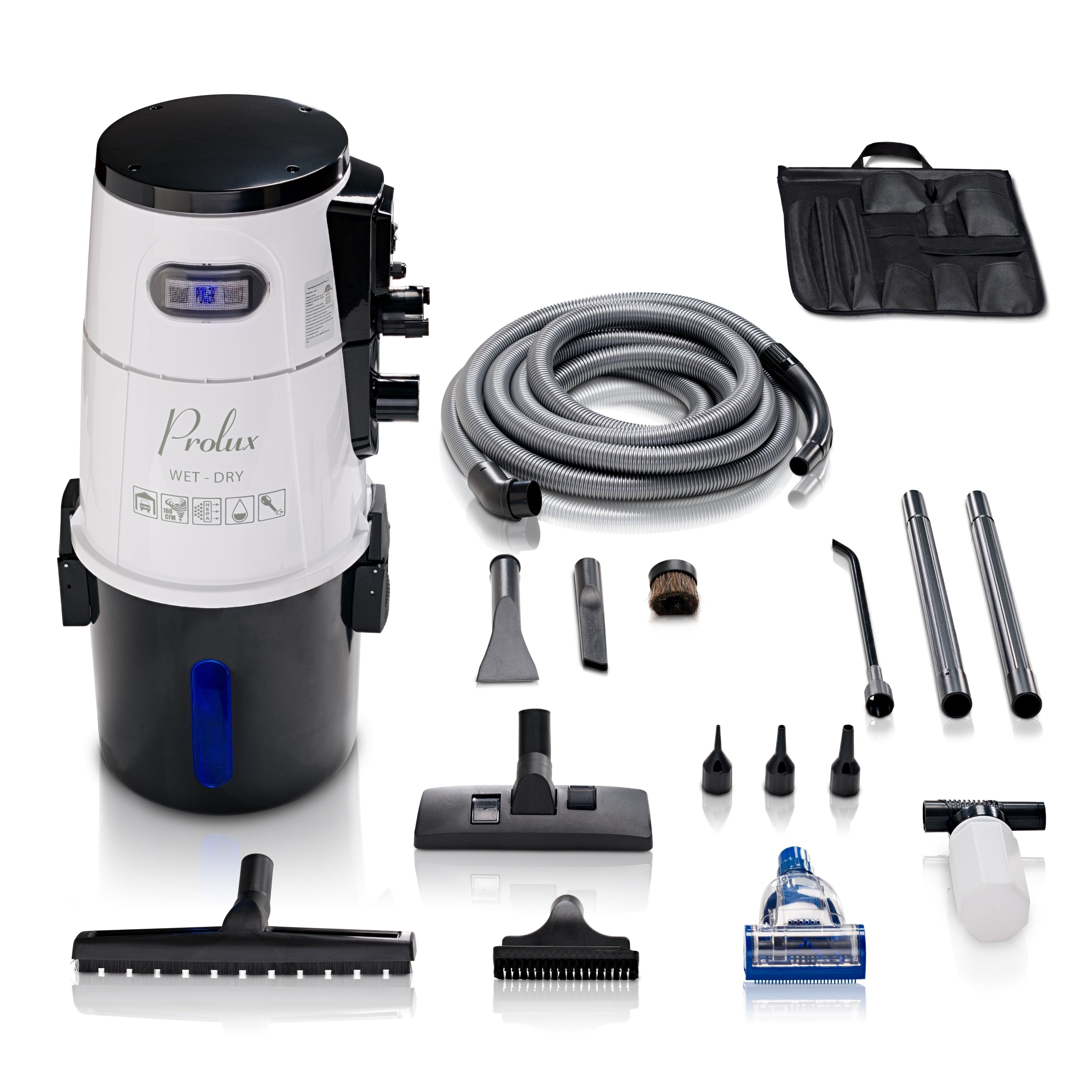 prolux professional wall mounted garage shop vacuum wet dry pick up