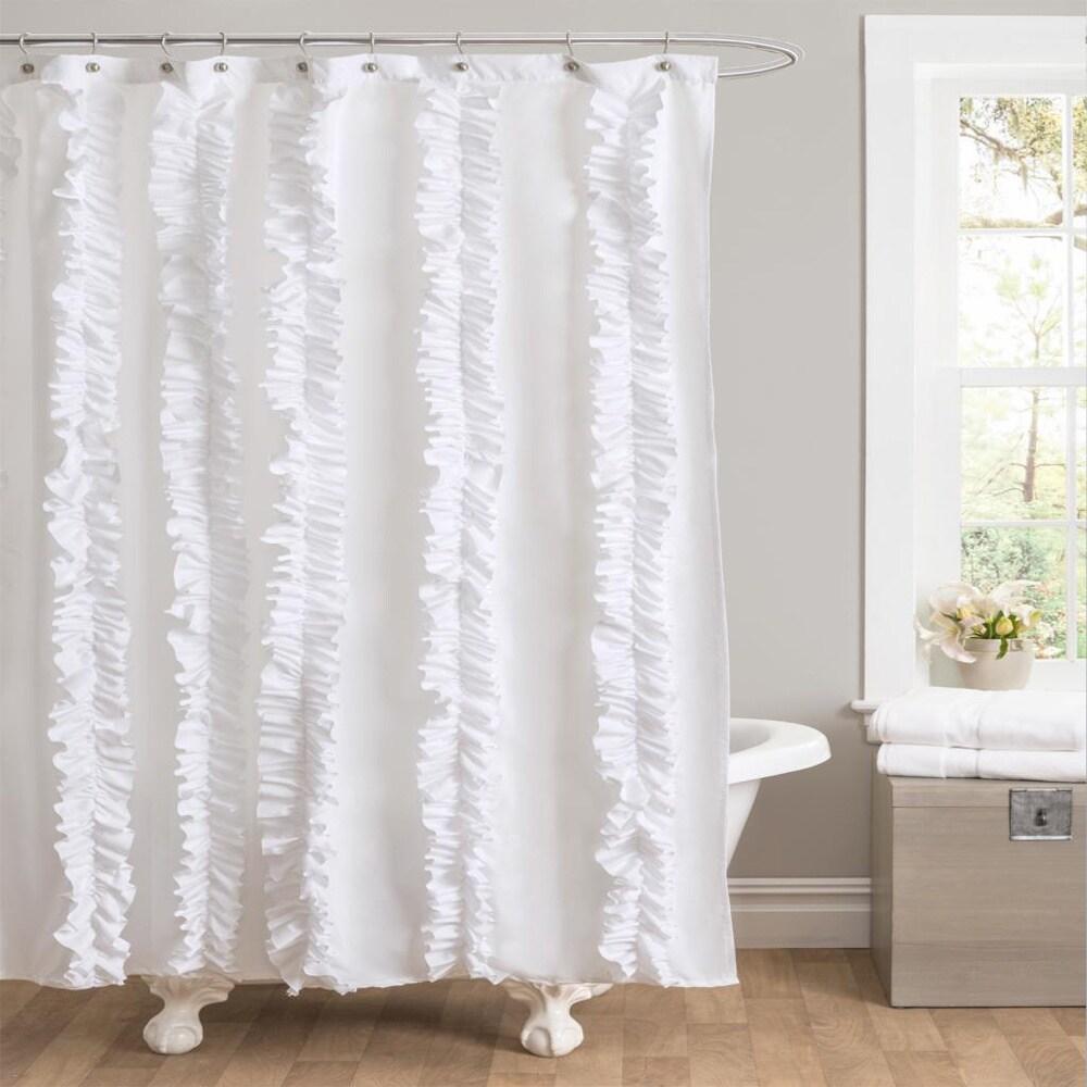 Shop Lush Decor Belle White Shower Curtain