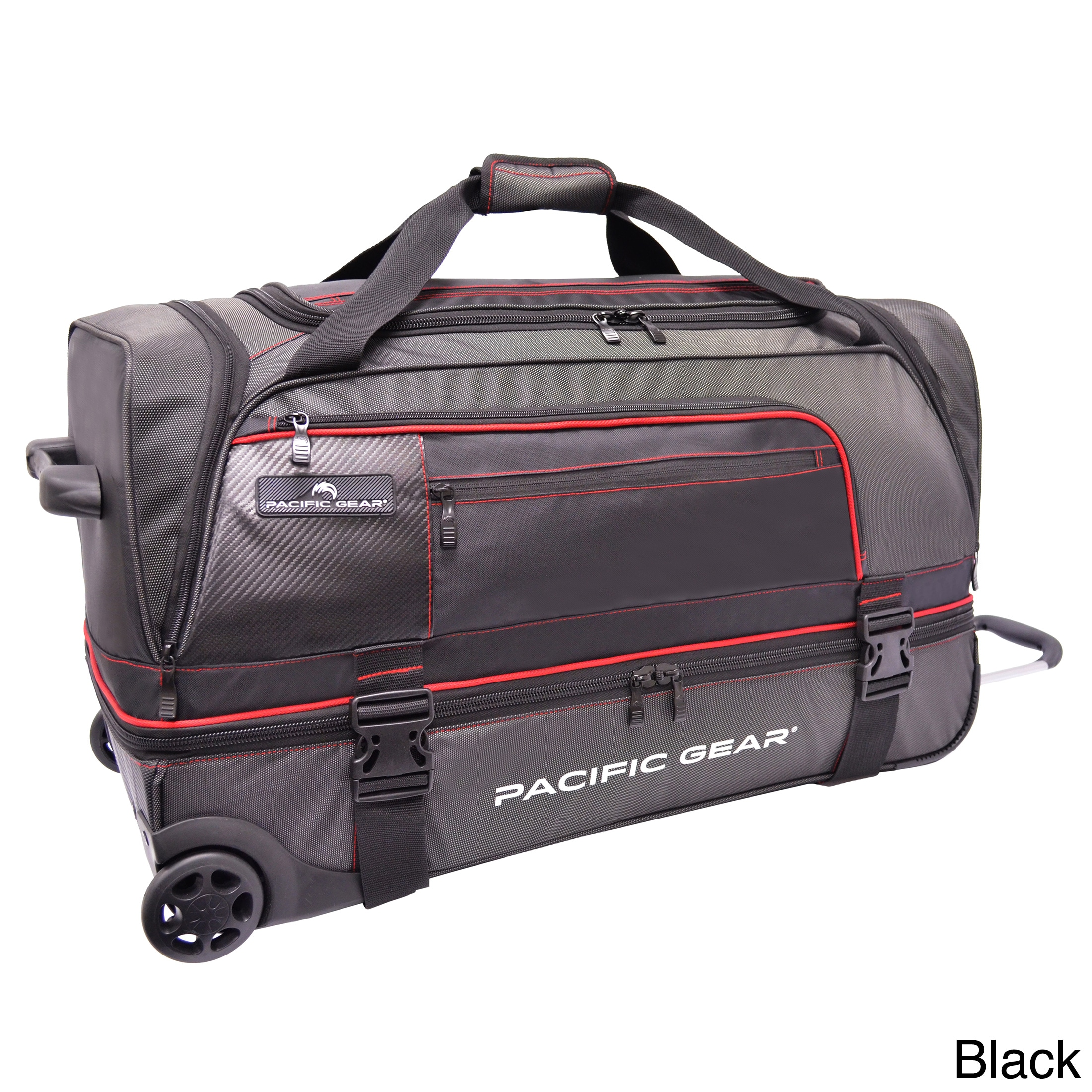 Shop Pacific Gear by Traveler s Choice Drop Zone 30-inch Drop-bottom  Rolling Upright Duffel Bag - Free Shipping Today - Overstock - 8238253 665bb579c4e12