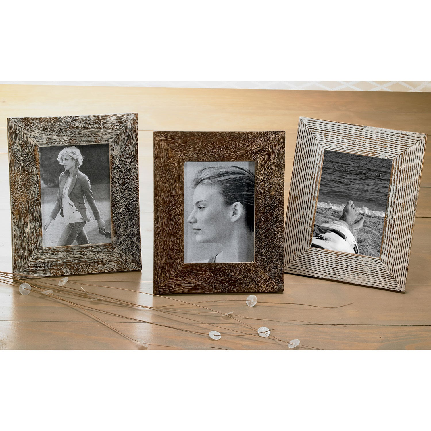 Shop Set of 3 Distressed Wood 5x7\