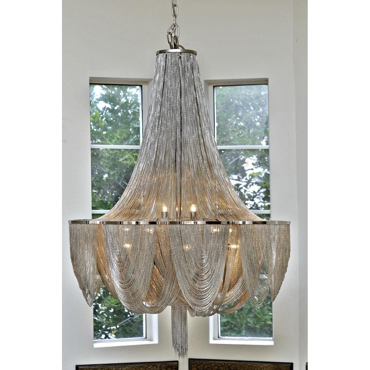 Shop Maxim Chantilly 10-light Hanging Chandelier Fixture - Free ...