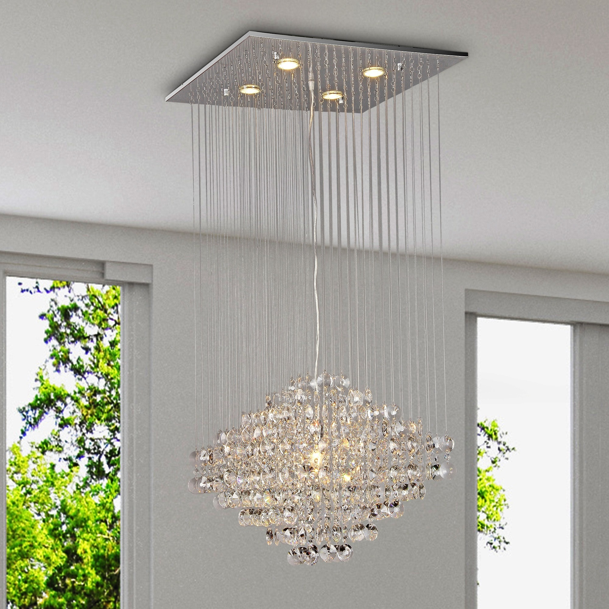 Maria Crystal Chandelier Free Shipping Today Overstock