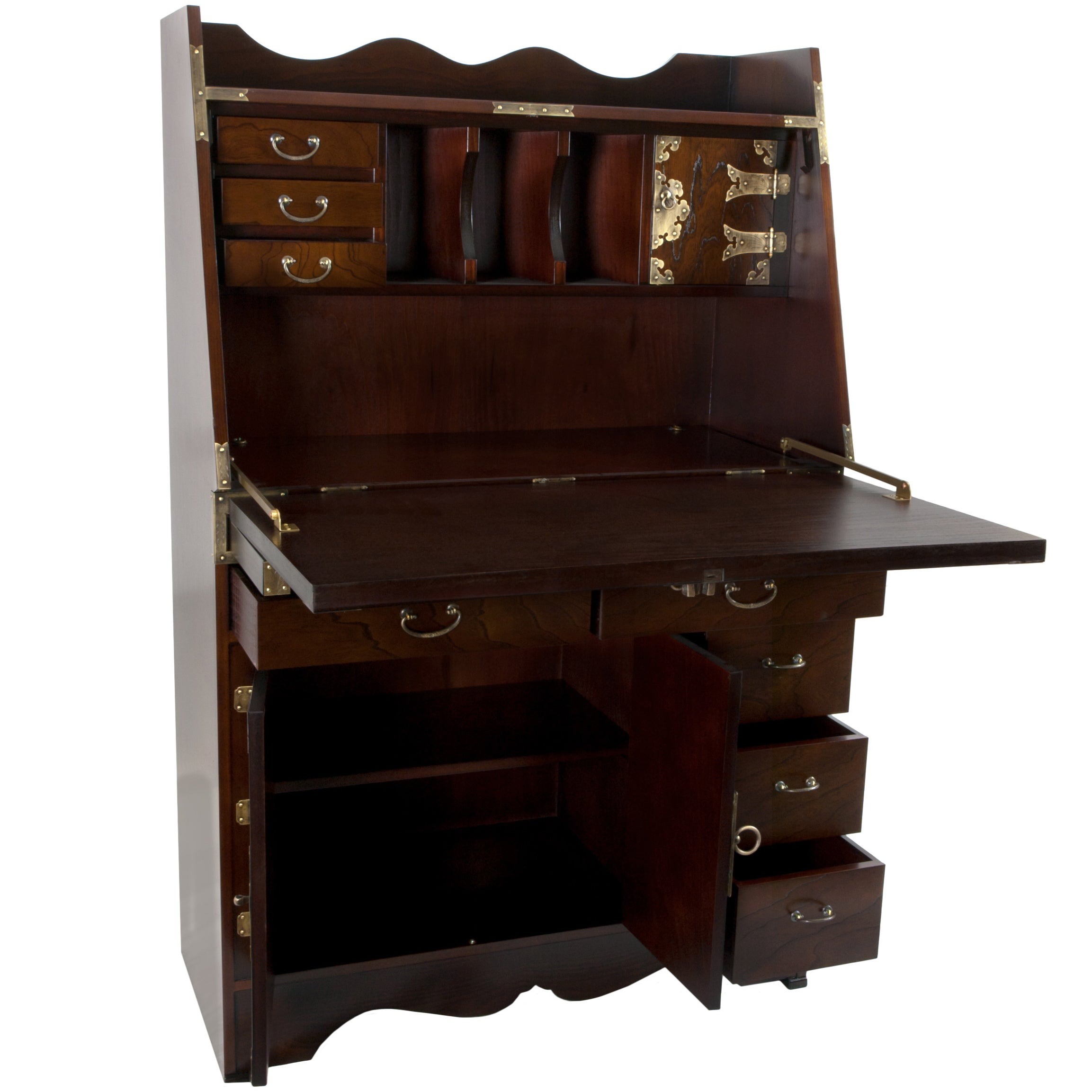 with desk keyboard well of teak lovely antique decor also computer home work done small help office ideas plus book square secretary interior and corner shelf your get hutch as fabulous stand the adjustable writing furniture drawer