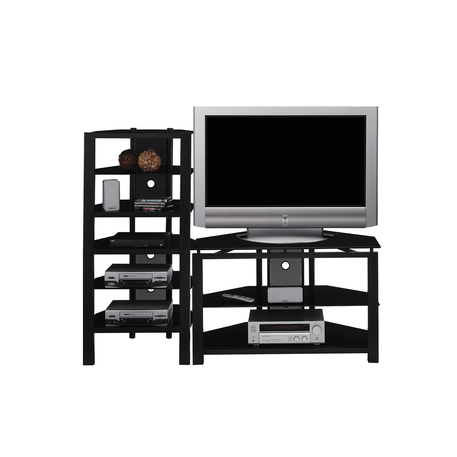 Shop Cobra Audio Tower Tv Stand Set Free Shipping Today