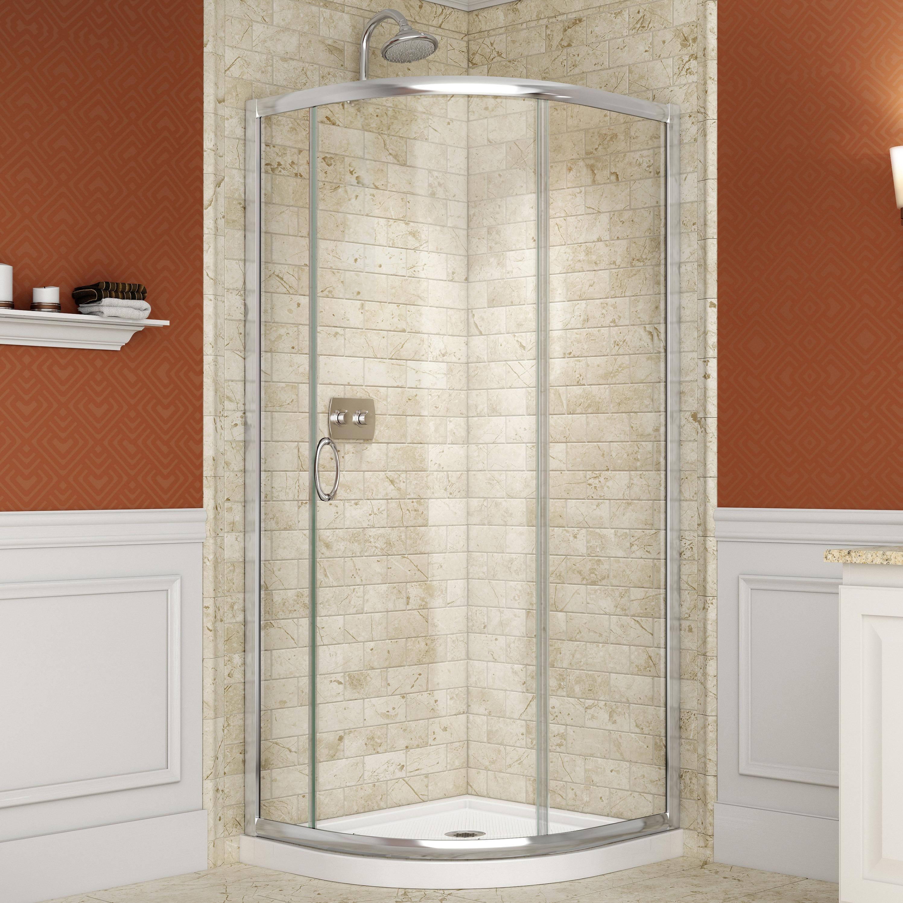 Shop DreamLine Solo Frameless Sliding Shower Enclosure and SlimLine ...