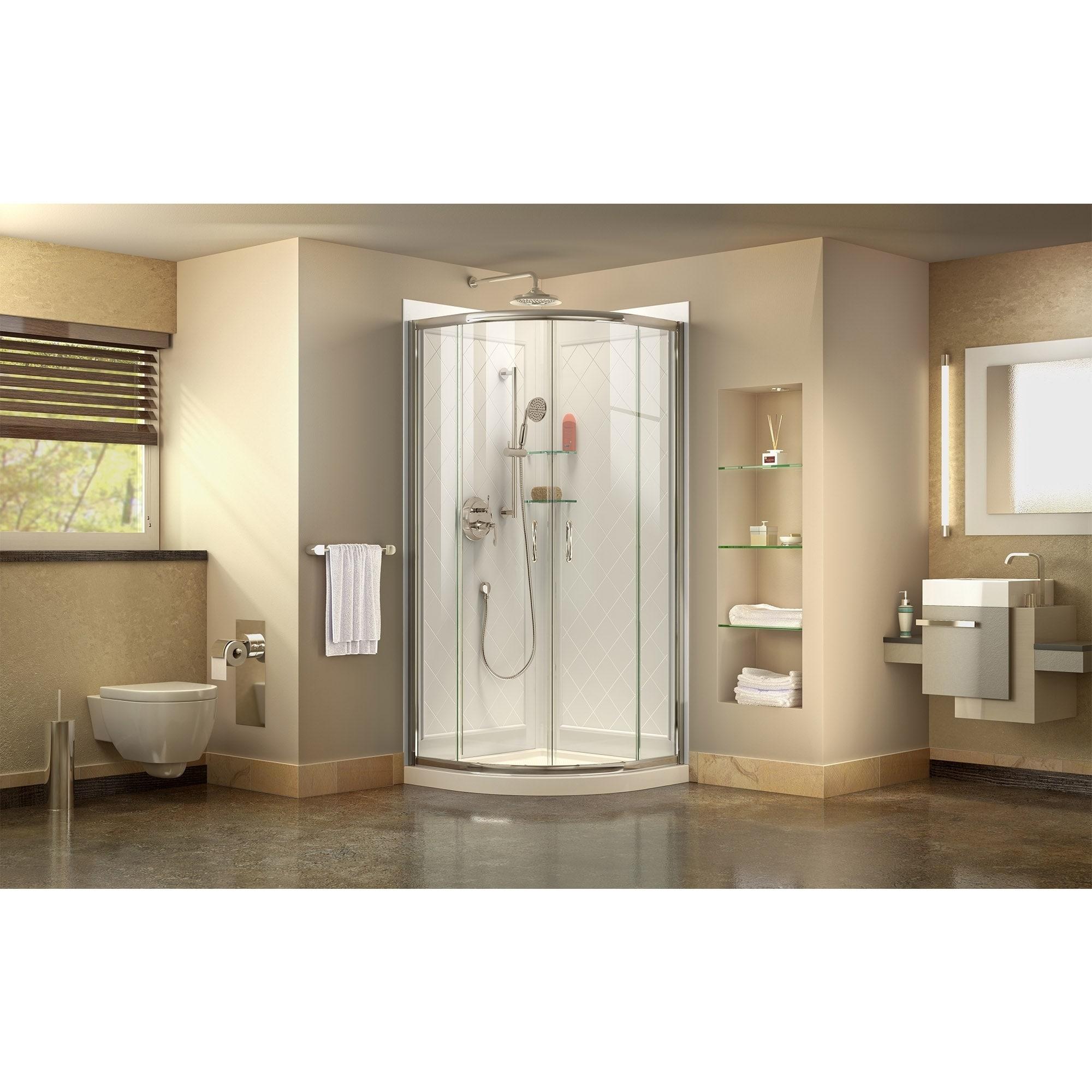Shop DreamLine Prime 36 in. x 36 in. x 76 3/4 in. H Sliding Shower ...
