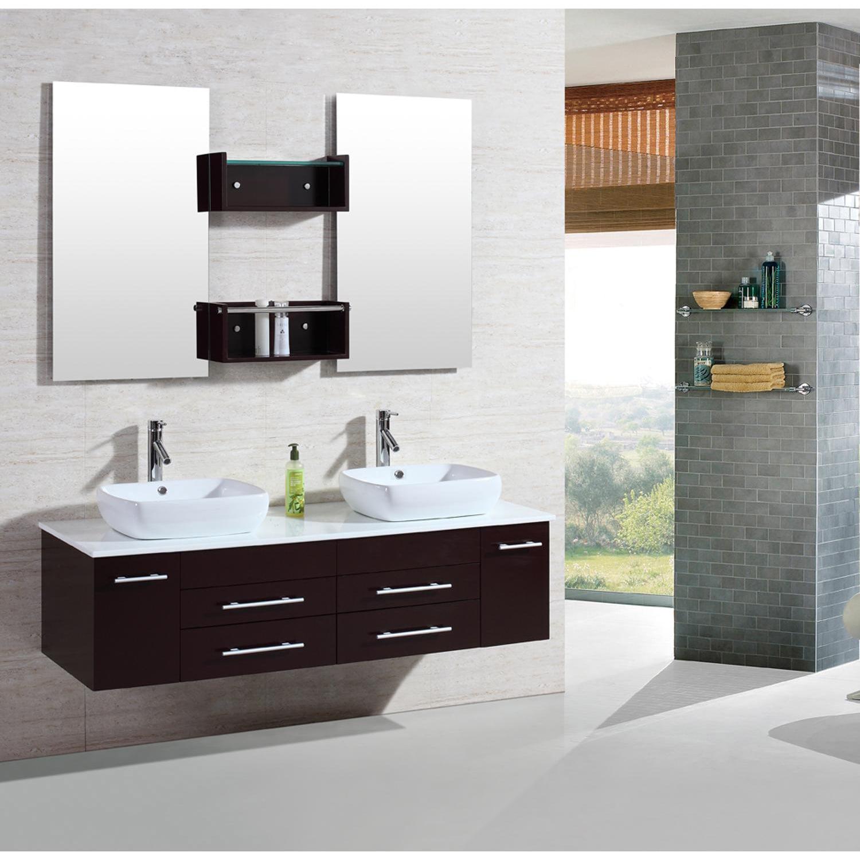 Shop kokols 60 inch wall mount floating bathroom vanity cabinet ...