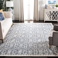 Safavieh Handmade Moroccan Cambridge Navy Blue/ Ivory Wool Rug (4' Square)