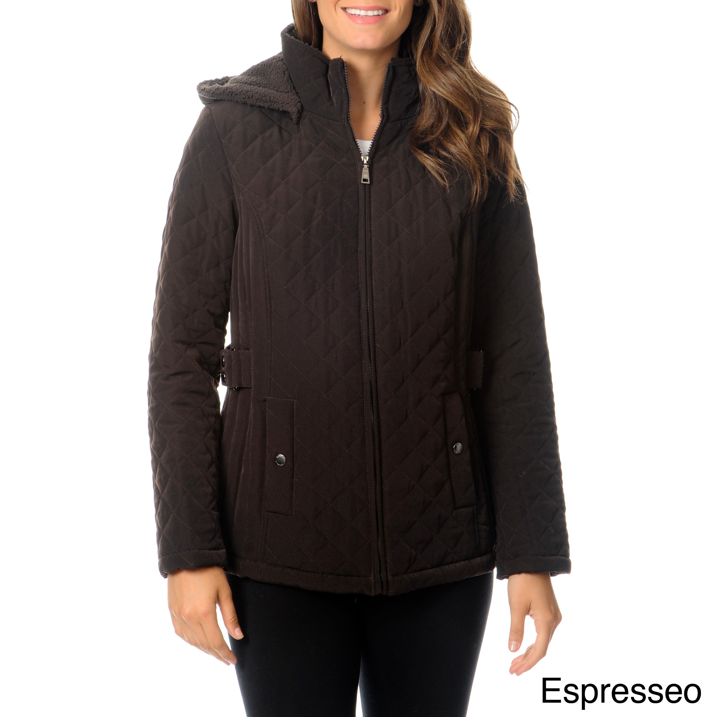 Shop Lbd Laundry By Design Womens Hooded Quilted Jacket Free