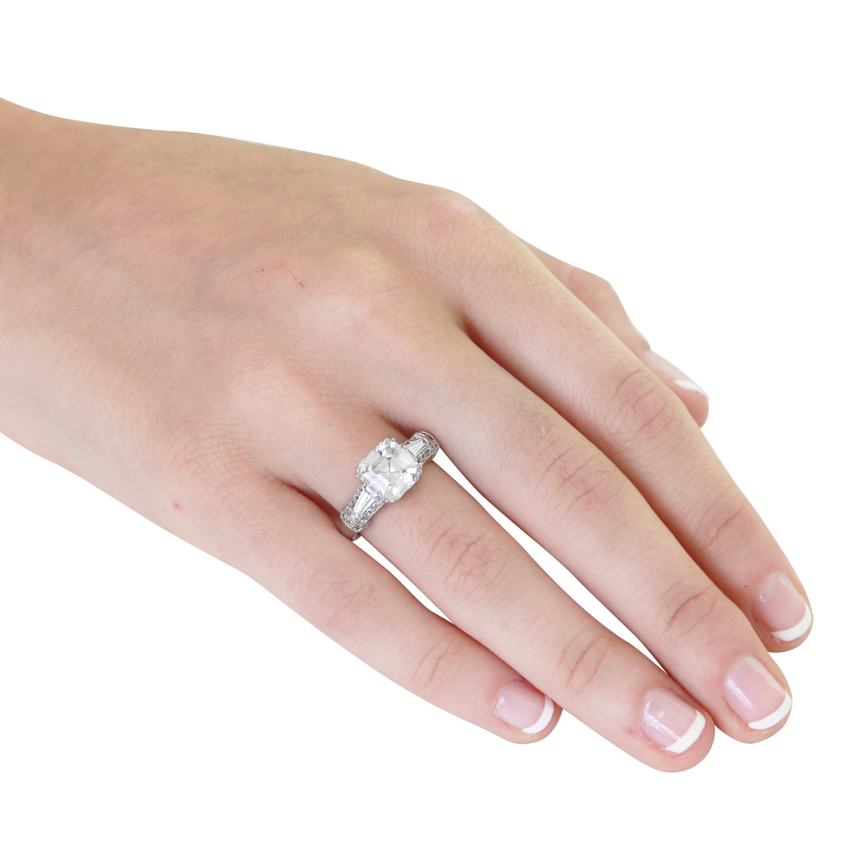 Shop NEXTE Jewelry Sterling Silver Asscher-cut Cubic Zirconia ...