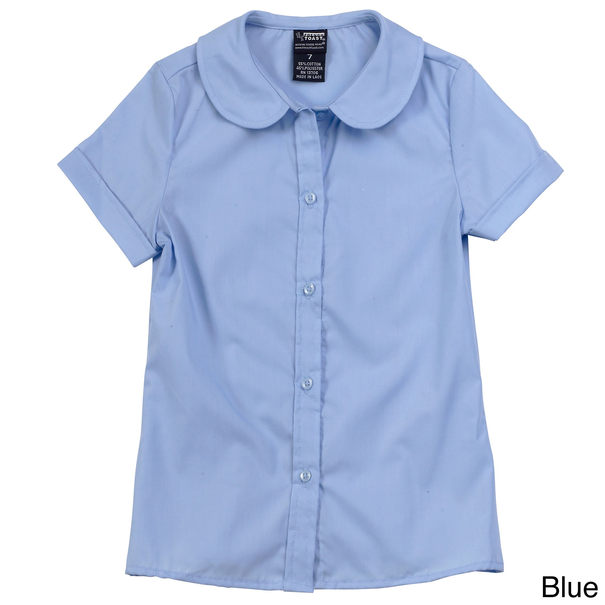 617ed2adb14 Shop French Toast Girls Femine Fit Short Sleeve Peter Pan Blouse - Free  Shipping On Orders Over  45 - Overstock - 8267726