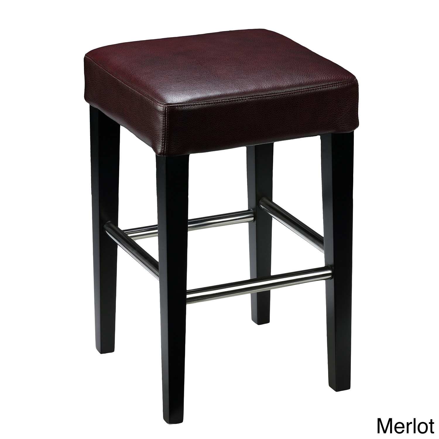 Shop 24 Inch Backless Counter High Stool In Genuine Leather Free