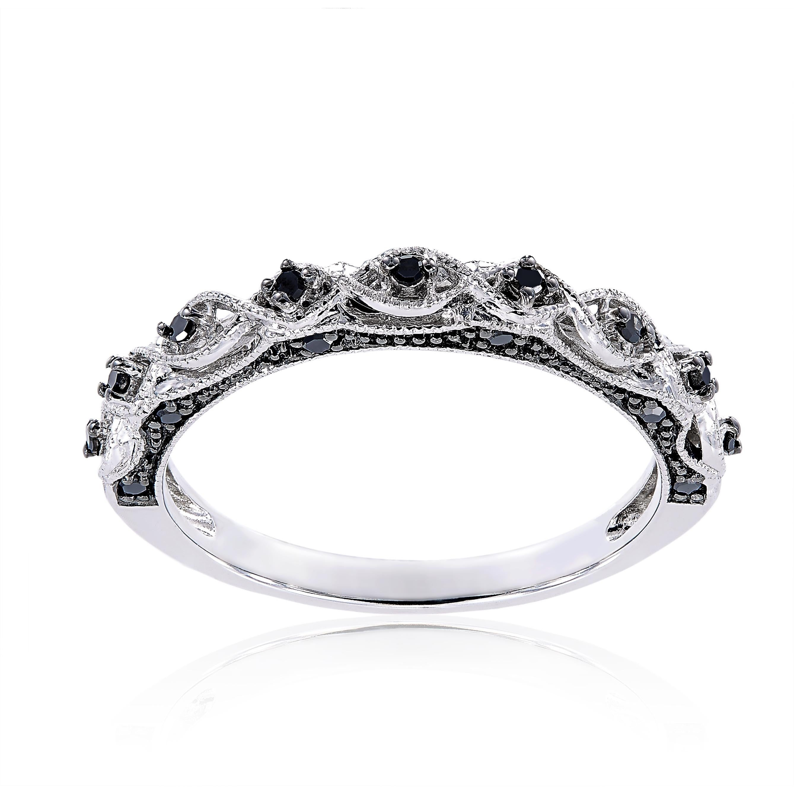 today product unique white jewelry ctw shipping ring men overstock mens bands jewelonfire in free silver black sterling s tdw diamond watches