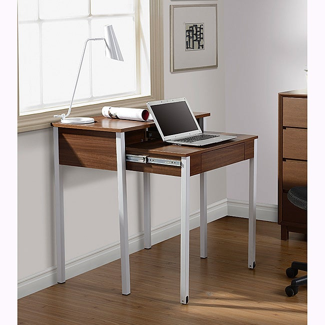 Beau Shop Modern Design Space Saving Retractable Student Desk   Free Shipping  Today   Overstock.com   8273618