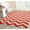 Safavieh Courtyard Chevron Red Indoor/ Outdoor Rug (9' x 12')