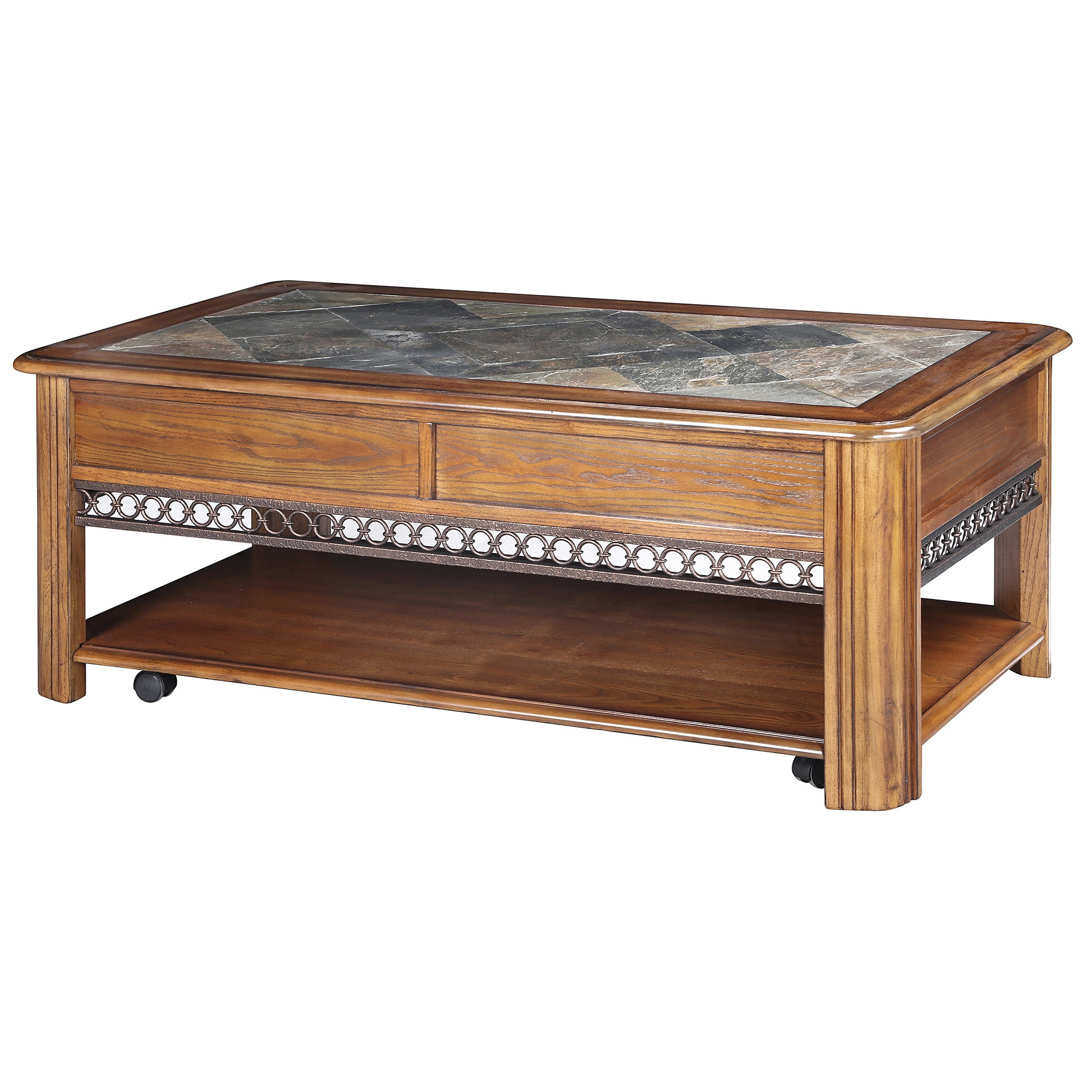 Shop Madison Rustic Warm Nutmeg Lift Top Coffee Table With Casters