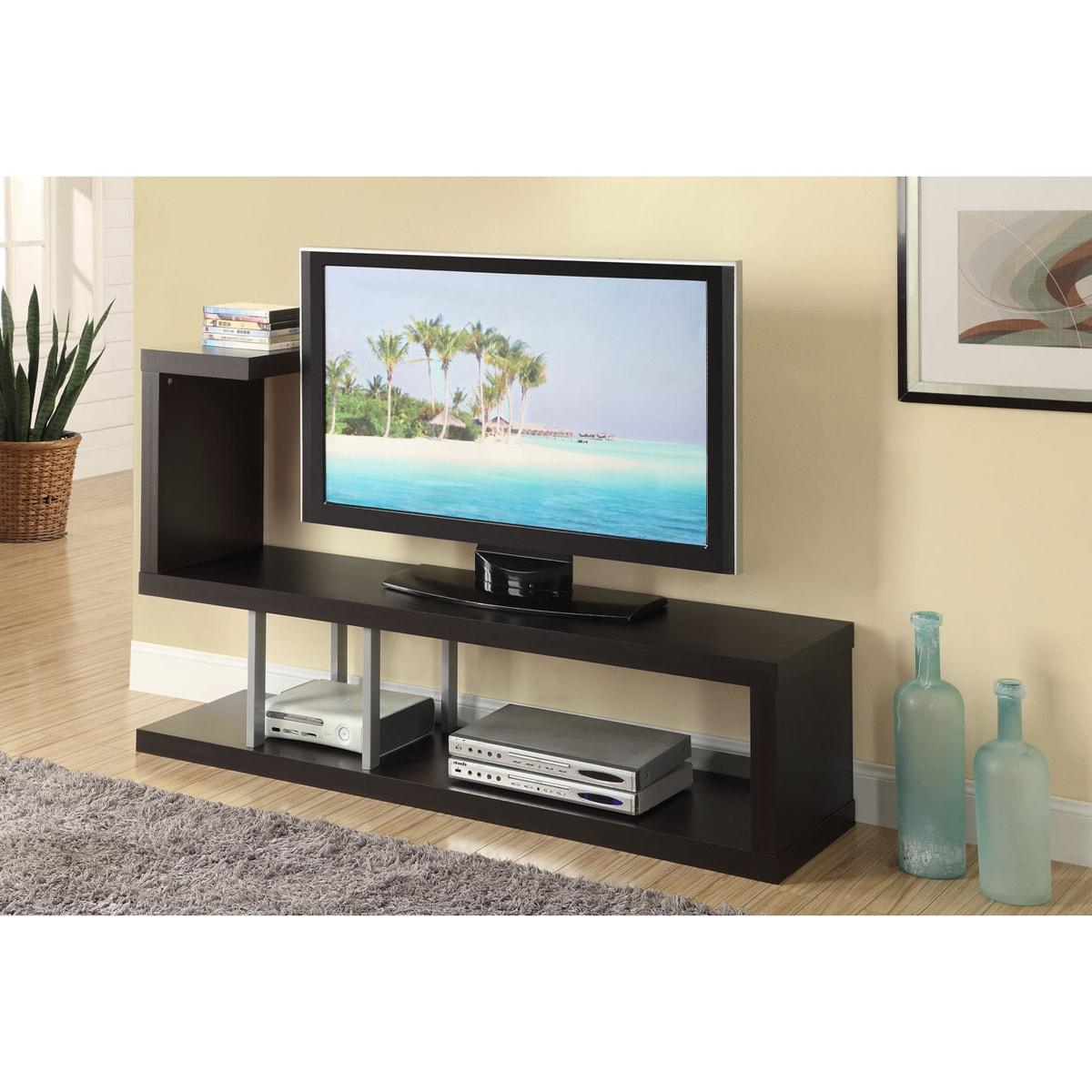 Hollow core Cappuccino TV Console Free Shipping