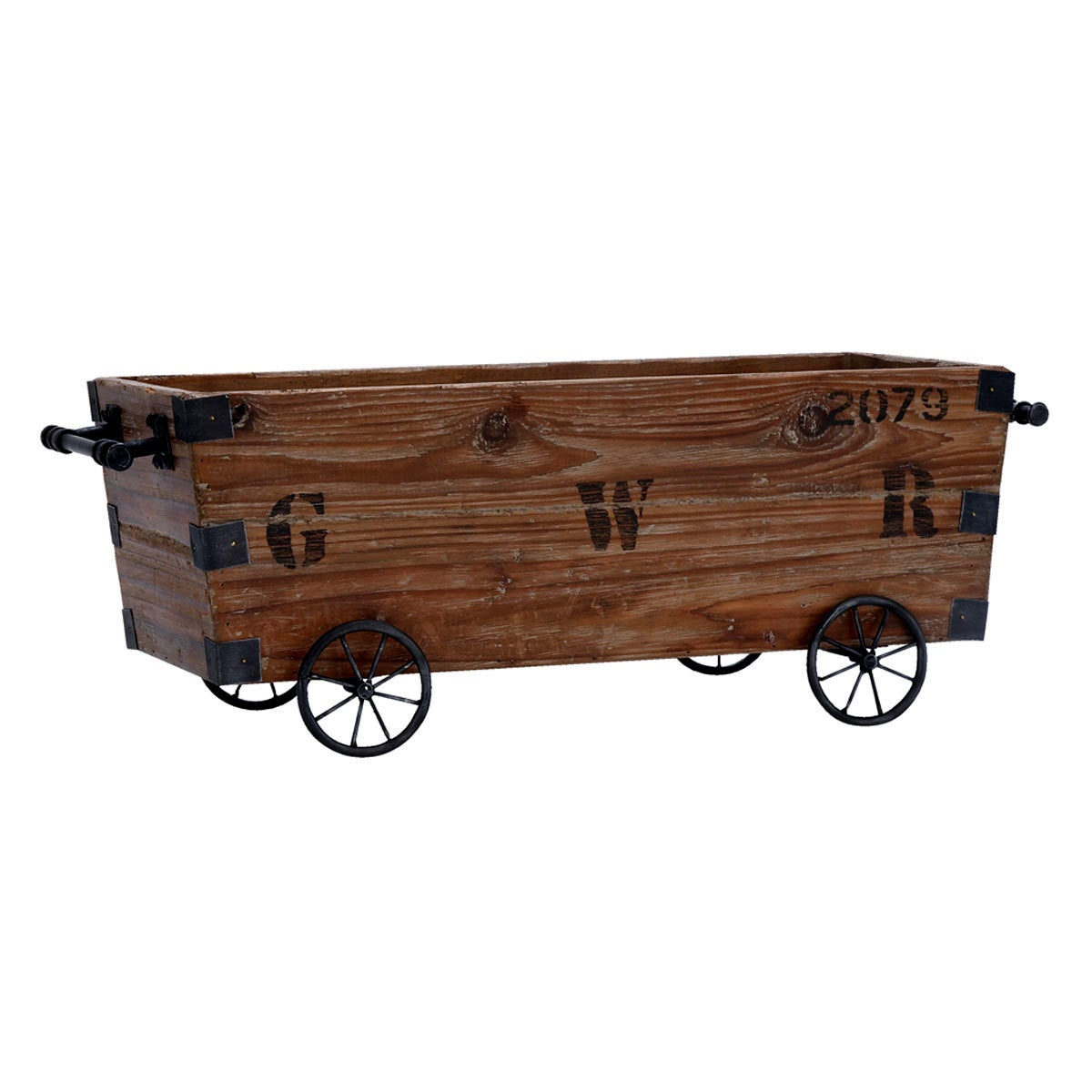 Shop Wood Cart and Storage Crate - Free Shipping Today - Overstock ...