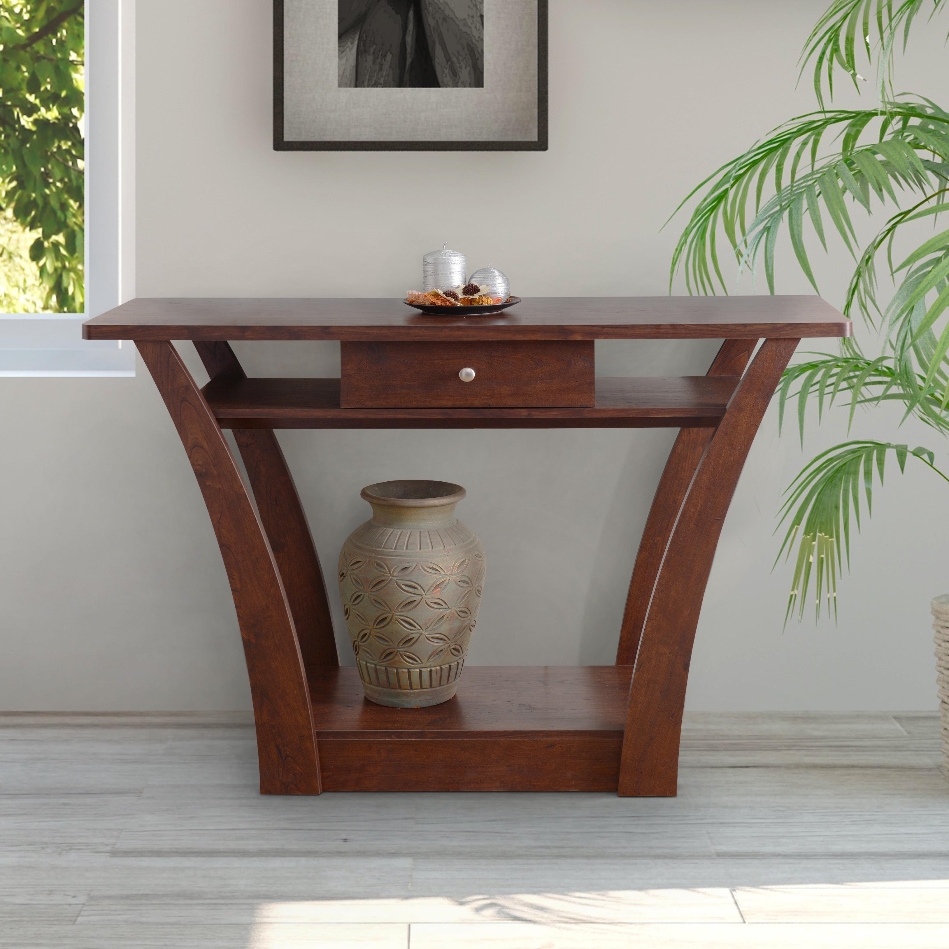The Gray Barn Zephyr Hill Modern 1 Drawer Dark Walnut Sofa Table  # Muebles Tagalog