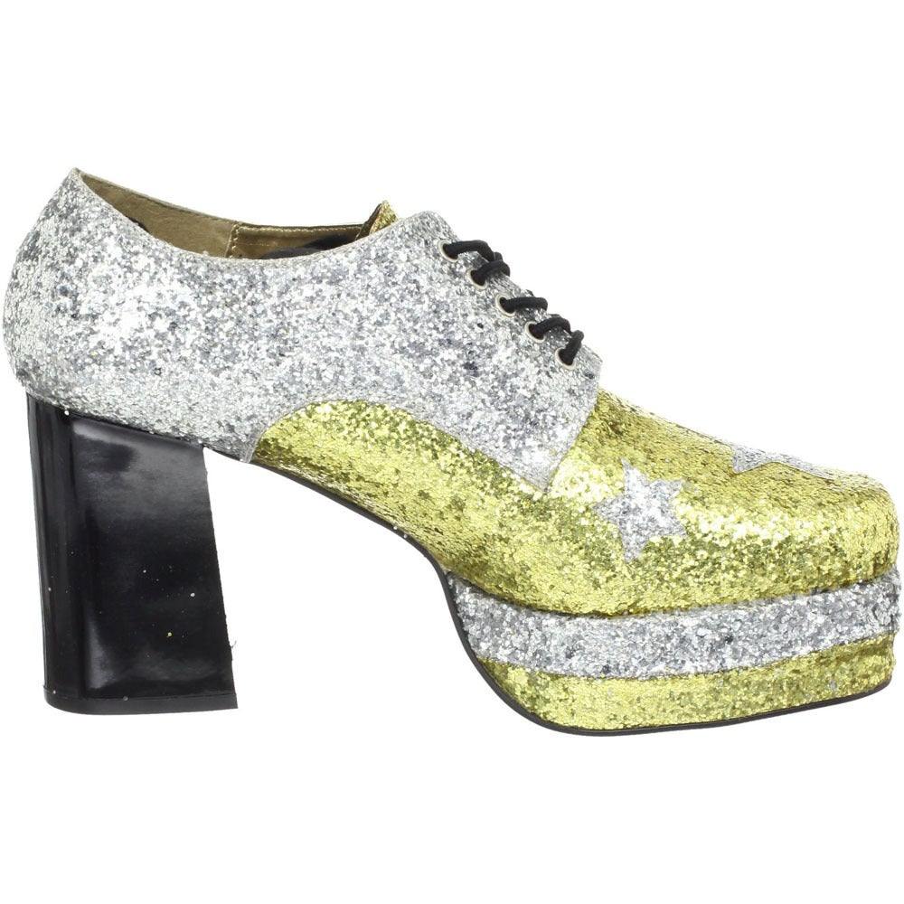 1b567b6fbb10 Shop Funtasma Men s  Glamrock-02  Glitter Stacked Platform Disco Shoes -  Free Shipping Today - Overstock - 8300675