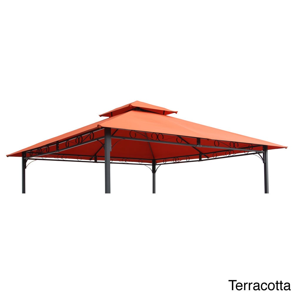 International Caravan St. Kitts Replacement Canopy for 10-foot Vented Canopy Gazebo - Free Shipping Today - Overstock.com - 15618404  sc 1 st  Overstock.com & International Caravan St. Kitts Replacement Canopy for 10-foot ...