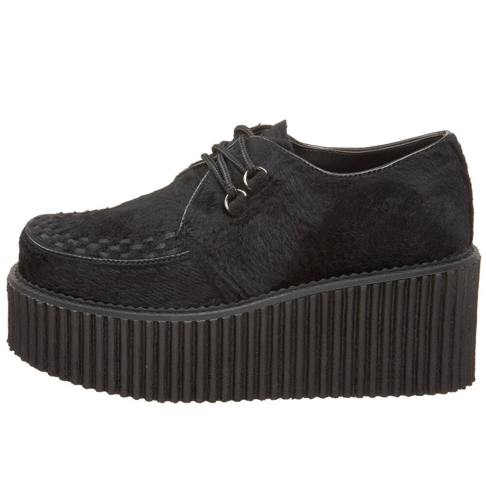 543d132c74bfd Shop Demonia Women s  Creeper-202  Black Platform Oxfords - Free Shipping  Today - Overstock.com - 8300888