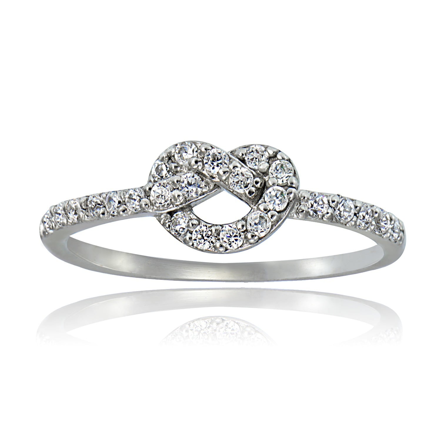 degem encordia solitaire diamond knot forevermark ring pave