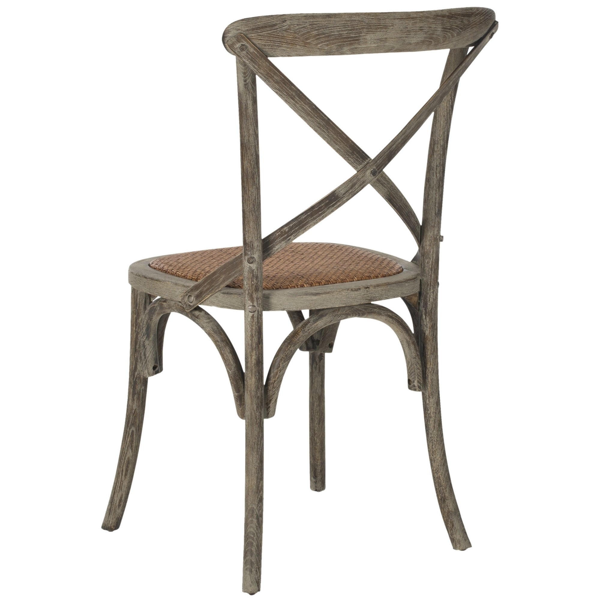 Shop Safavieh Country Classic Dining Franklin X Back Distressed Colonial  Grey Oak Chairs (Set Of 2)   On Sale   Free Shipping Today   Overstock.com    ...