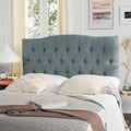 Safavieh Axel Sky Blue Upholstered Tufted Headboard (Queen)