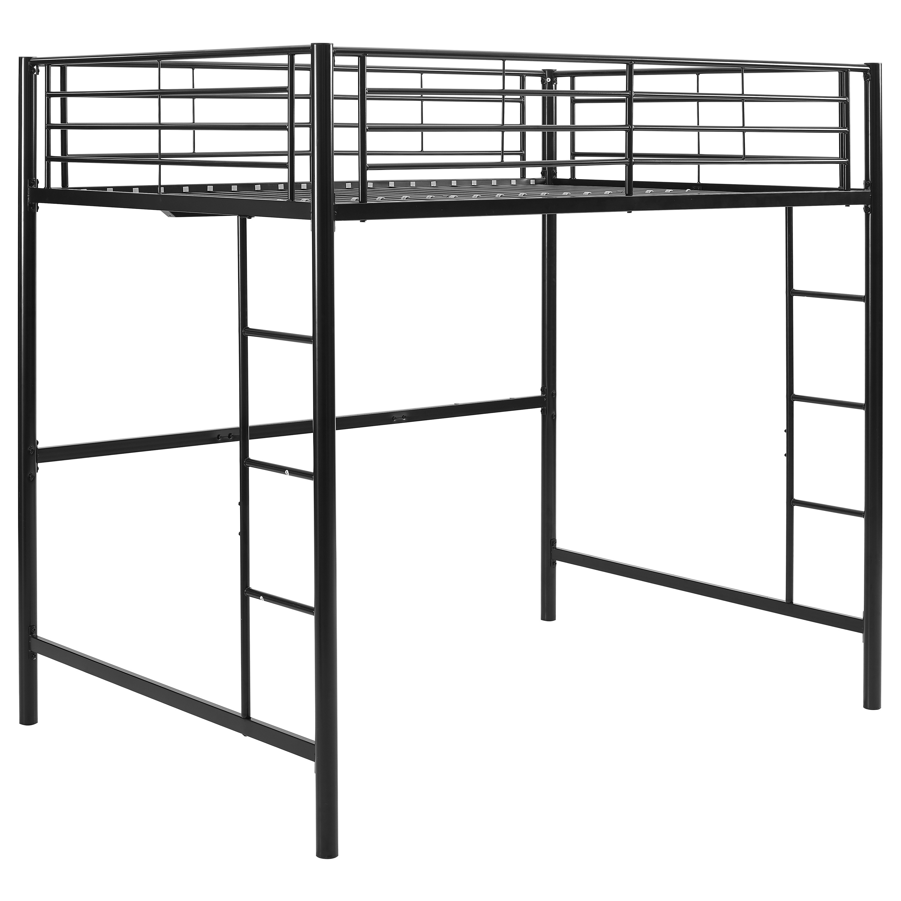 Shop Black Metal Full Loft Bed Free Shipping Today Overstock Com