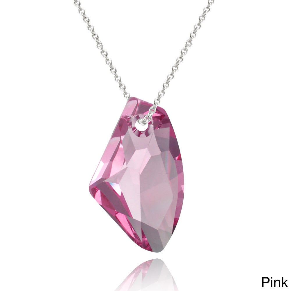 kyoto pendant original necklace product katehamiltonhunter swarovski crystal garden by kate small fuchsia fuschia pink heart hh