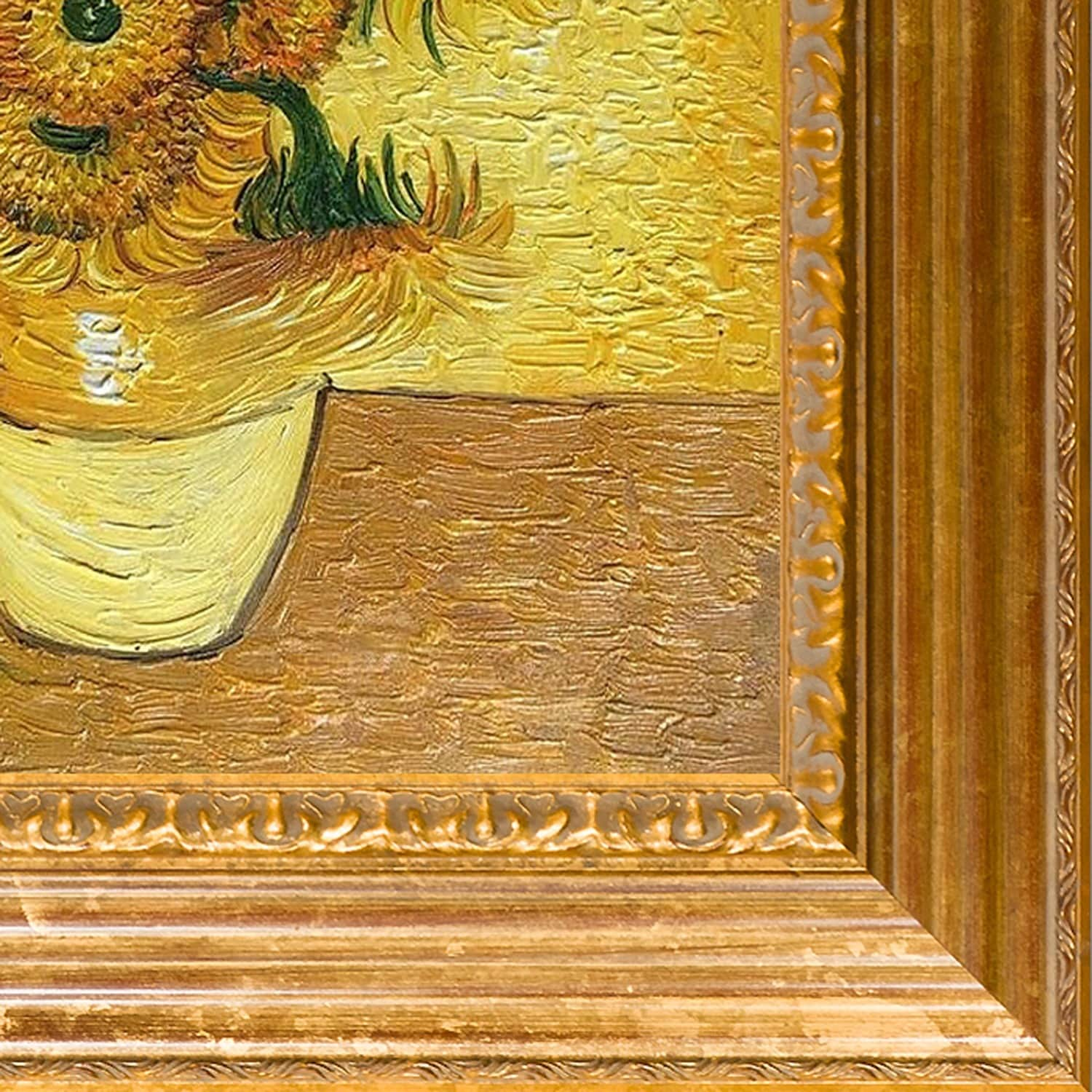 Vincent van gogh vase with fifteen sunflowers hand painted vincent van gogh vase with fifteen sunflowers hand painted framed canvas art free shipping today overstock 15626509 reviewsmspy